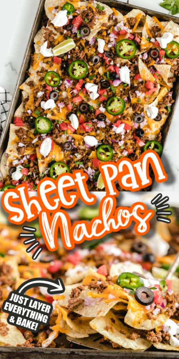 Sheet Pan Nachos Pinterest Image