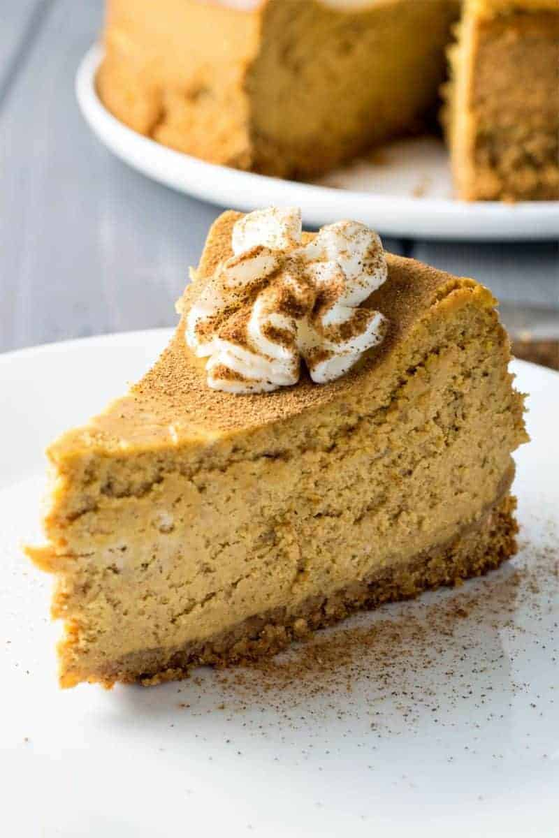 Pumpkin Spice Cheesecake by Homemade Hooplah | Pumpkin Spice and Everything Nice: Pumpkin Spice Recipes for Fall