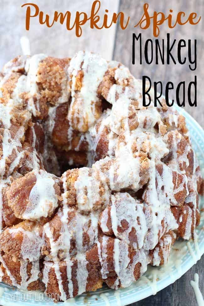 Pumpkin Spice Monkey Bread by Iy DIY Out Loud | Pumpkin Spice and Everything Nice: Pumpkin Spice Recipes for Fall
