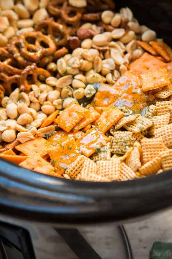 Ranch Slow Cooker Chex Mix Recipe by Oh Sweet Basil and other amazing Chex Mix Recipes!