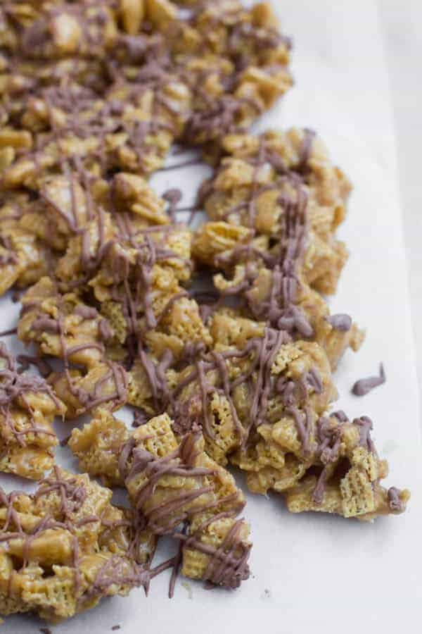 Scotcharoos Chex Mix by Oh Sweet Basil and other amazing Chex Mix Recipes!