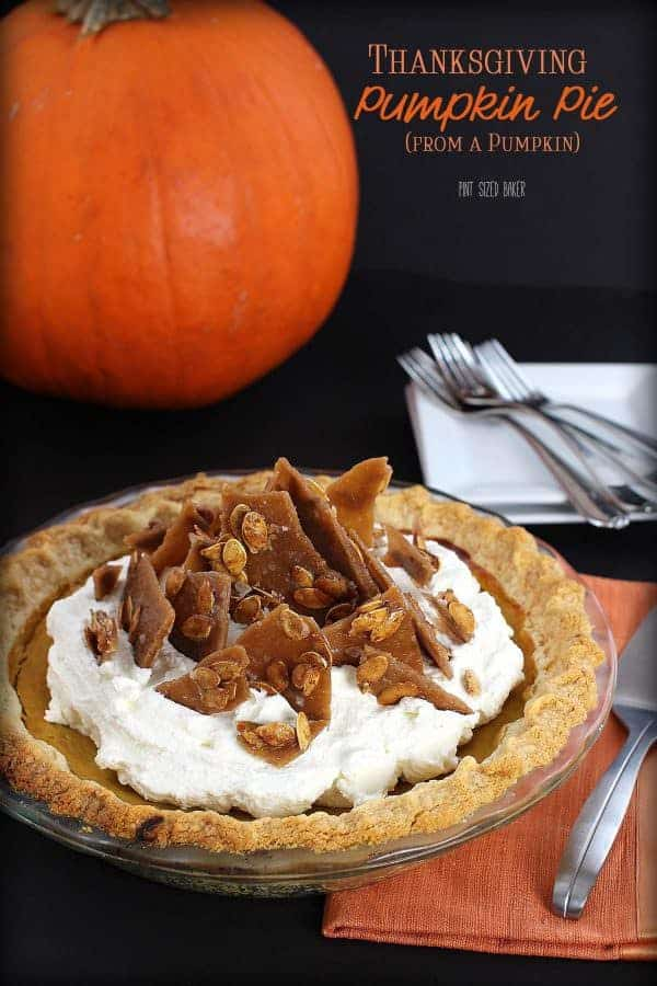 Thanksgiving Pumpkin Pie by Pint Sized Baker | Pumpkin Pie Recipes and Pumpkin Pie Flavored Recipes!