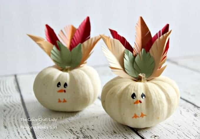 Mini turkey pumpkins craft for kids