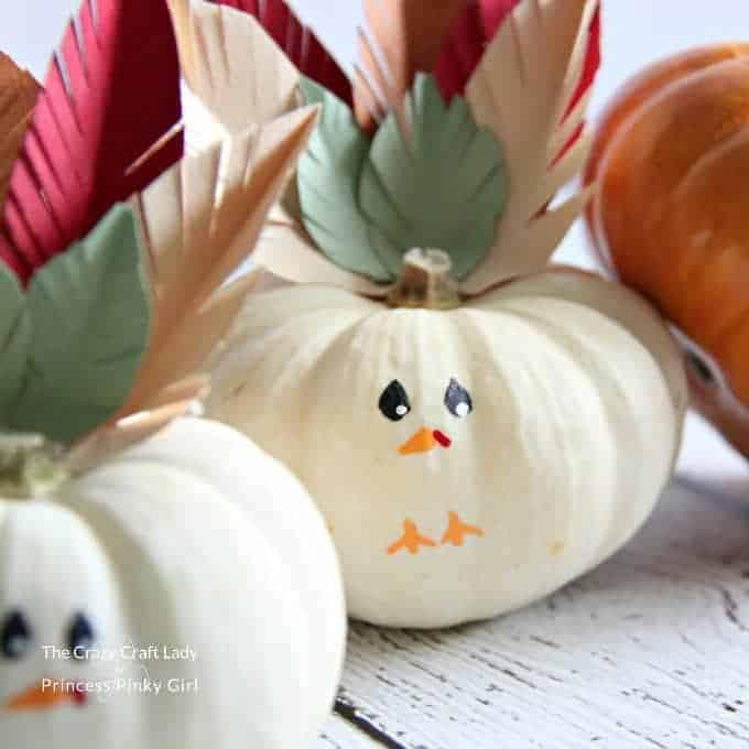 Turkey Mini Pumpkins Craft – An Easy Thanksgiving Craft
