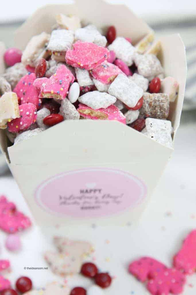 Valentine Muddy Buddies from The Idea Room and other amazing Chex Mix Recipes!