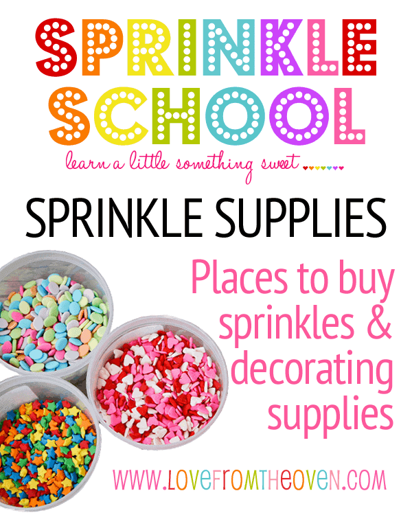 Where to Buy Sprinkles by Love from the Oven | Become a pro at designing cakes with these cake decorating hacks!