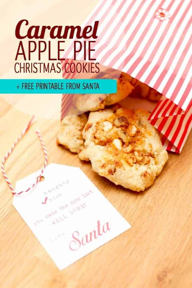 Caramel Apple Pie Christmas Cookies by Spaceships and Laserbeams   The Best Ever Christmas Cookies   Dozens and dozens of delicious Christmas Cookie Recipe ideas!