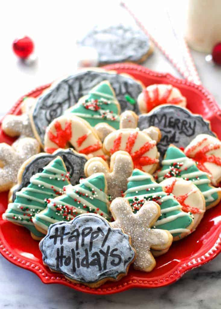 Chalkboard Christmas Cookies by The Seaside Baker