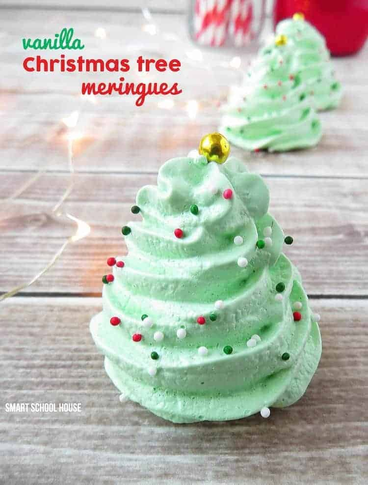 Christmas Tree Meringue Cookies by Smart School House   The Best Ever Christmas Cookies   Dozens and dozens of delicious Christmas Cookie Recipe ideas!