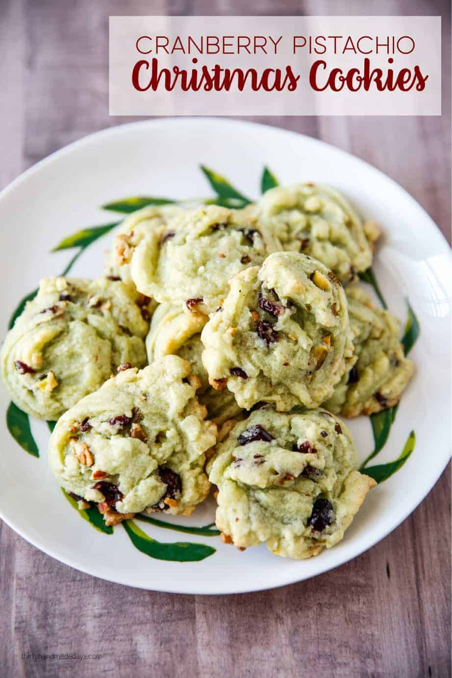 Cranberry Pistachio Christmas Cookies by Thirty Handmade Days | The Best Ever Christmas Cookies | Dozens and dozens of delicious Christmas Cookie Recipe ideas!