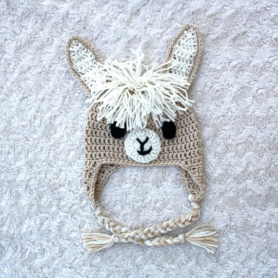 Crochet Alpaca Llama Hat via ETSY | These are not your grandma's crochet ideas! These cool crochet patterns and handmade items are just plain fabulous!
