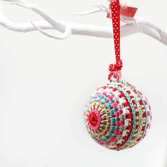Crochet Bauble Christmas Ornament