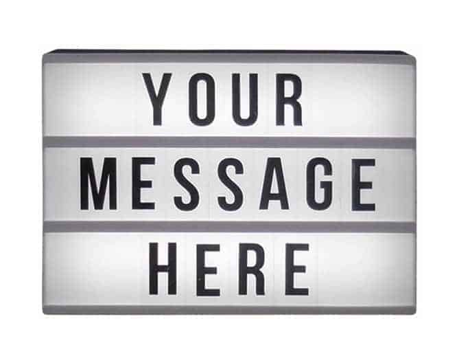 Your Message Here custom boards