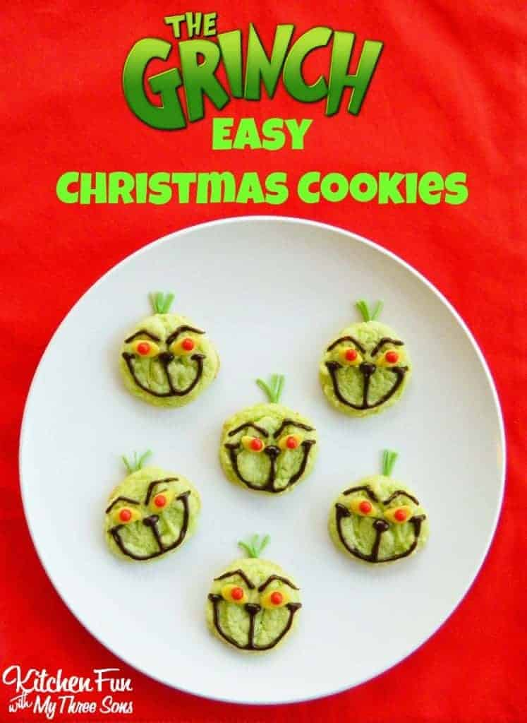 Easy Grinch Cookies by Kitchen Fun with My 3 Sons | The Best Ever Christmas Cookies | Dozens and dozens of delicious Christmas Cookie Recipe ideas!