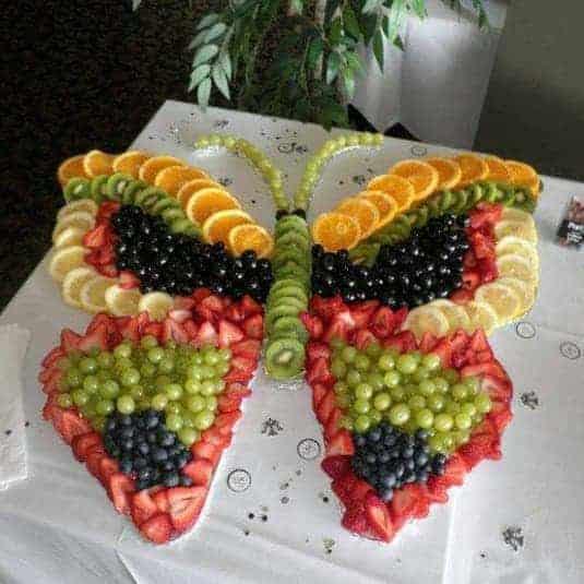 Fruity Butterfly by Key Ingredients and other great themed fruit tray ideas