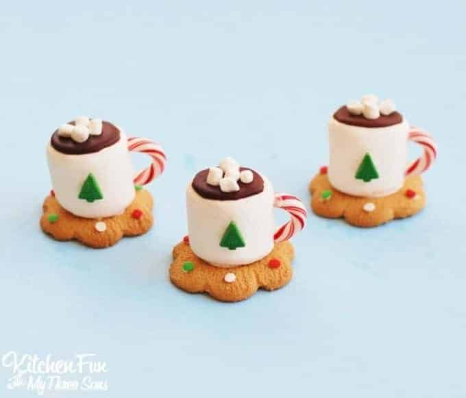 Hot Cocoa Marshmallow Cookies by Kitchen Fun with My 3 Sons   The Best Ever Christmas Cookies   Dozens and dozens of delicious Christmas Cookie Recipe ideas!