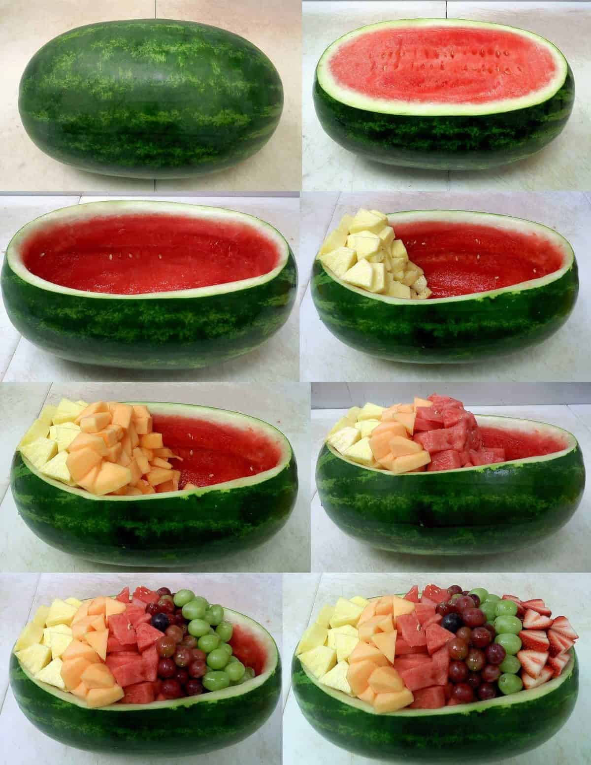How to make a watermelon fruit bowl from Buzzfeed