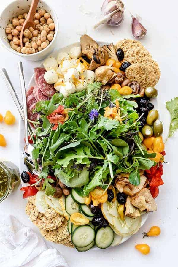 Italian Salad Platter by Foodie Crush and other great party tray ideas