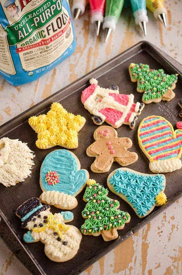 Old Fashioned Sour Cream Cut Out Cookies by The Creative Bite | The Best Ever Christmas Cookies | Dozens and dozens of delicious Christmas Cookie Recipe ideas!