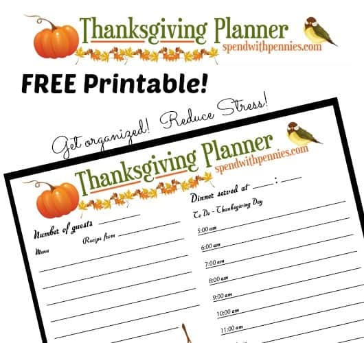 Printable Thanksgiving Planner by Spend With Pennies