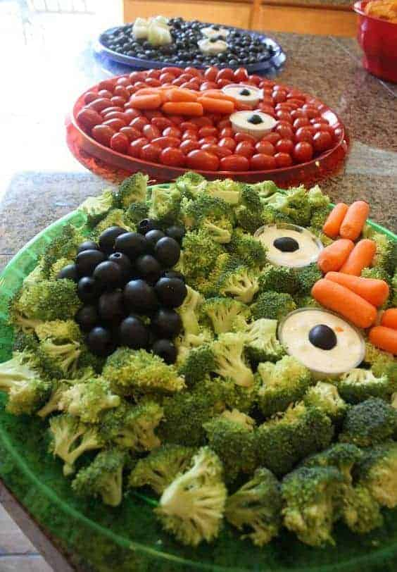 Sesame Street Platter Ideas via Catch My Party and other great healthy party food ideas