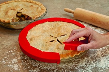 Silicone Pie Crust Shield and other great Thanksgiving Hacks and Kitchen Tools