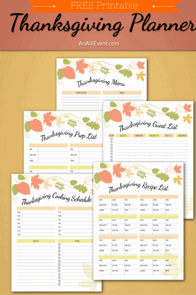 Thanksgiving Planner by An Alli Event