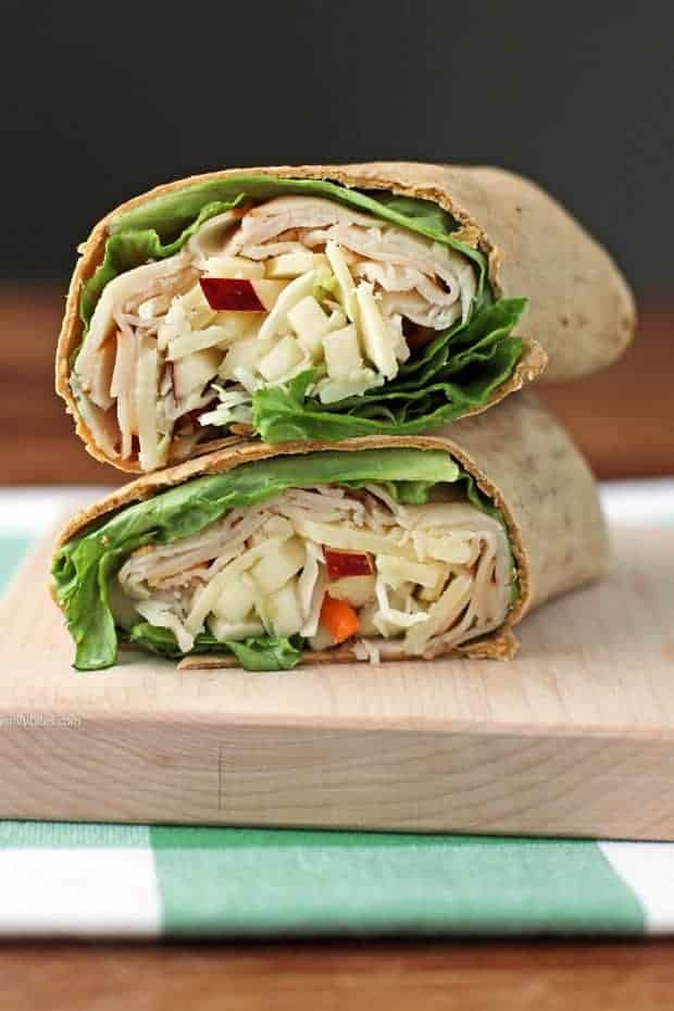 Apple Cheddar Turkey Wraps by Emily Bites and the BEST Weight Watchers Recipes under 7 SmartPoints