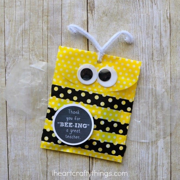 Bee Teacher Appreciation Gift by I Heart Crafty Things and other great Teacher gift ideas!