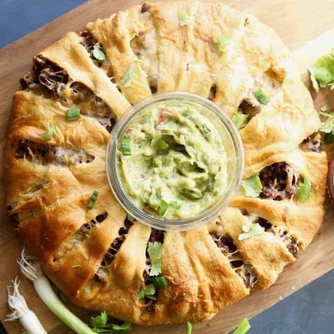 Beef Taco Ring- Perfect for Game Day