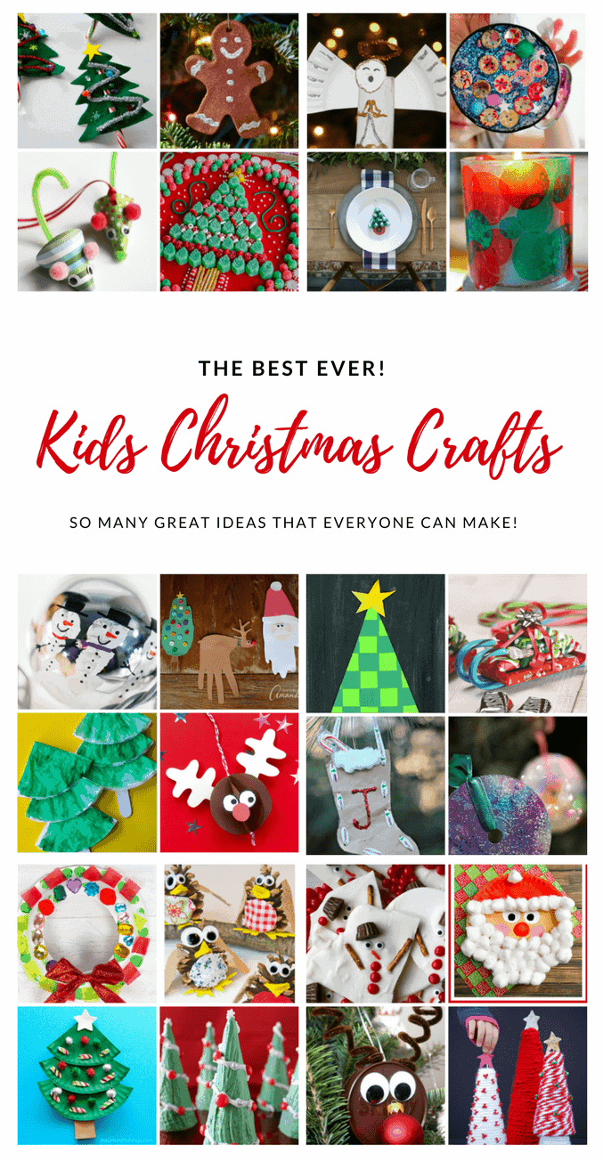 The best ever EASY kids Christmas Craft Ideas. So many fun ideas to get the kids involved in the holiday fun!
