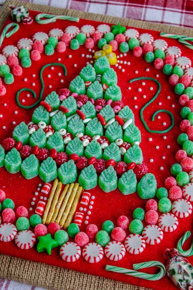 Candy Christmas Tree by The Food Charlatan | The best ever kids Christmas Craft Ideas. So many fun ideas to get the kids involved in the holiday fun!