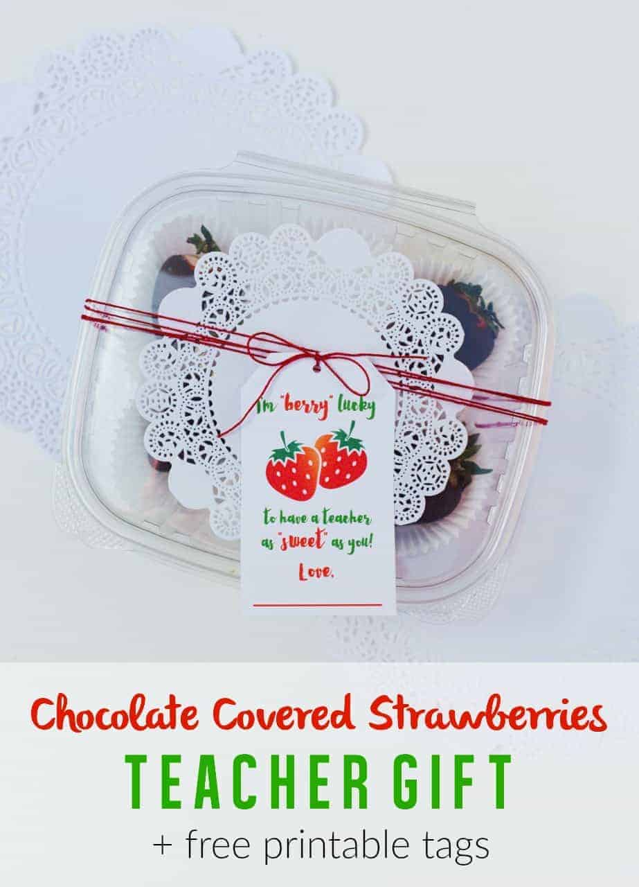 Chocolate Covered Strawberries Teacher Appreciation Gift by Skip To My Lou and other great Teacher gift ideas!