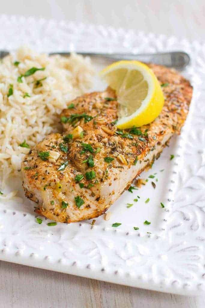 Easy Herb Lemon Pork Chops by Cookin Canuk and the BEST Weight Watchers Recipes under 7 SmartPoints