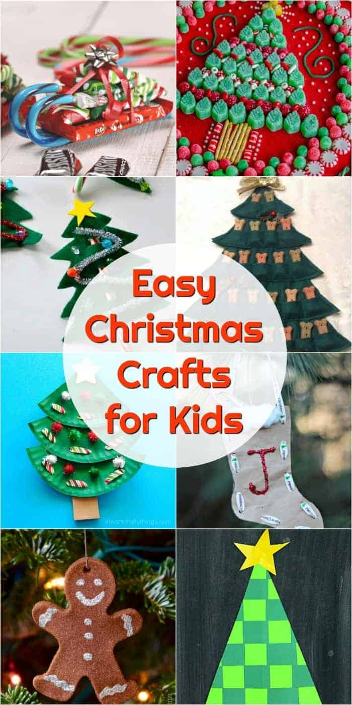 Kids Christmas Crafts That Totally Rock! Grab the paper, glue and sparkles because these easy Christmas Crafts for kids are the perfect winter activity!