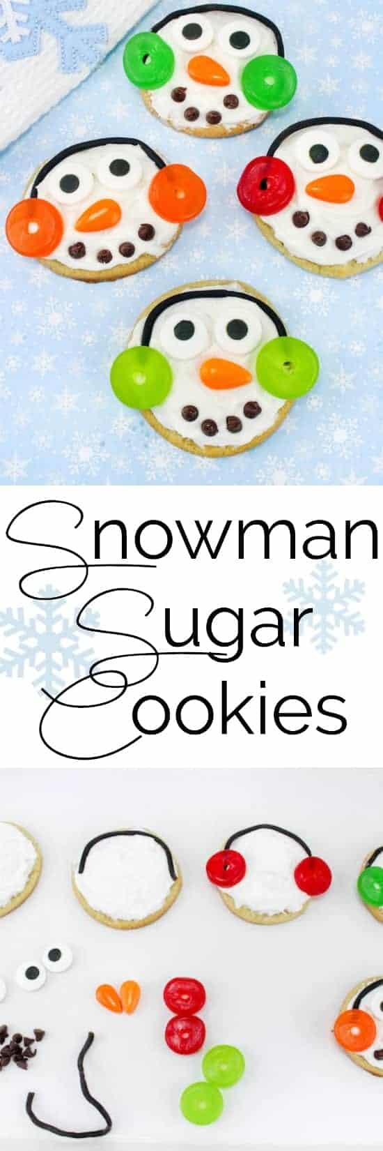 Snowman Sugar Cookies Recipe Perfect For A Christmas Cookie Swap