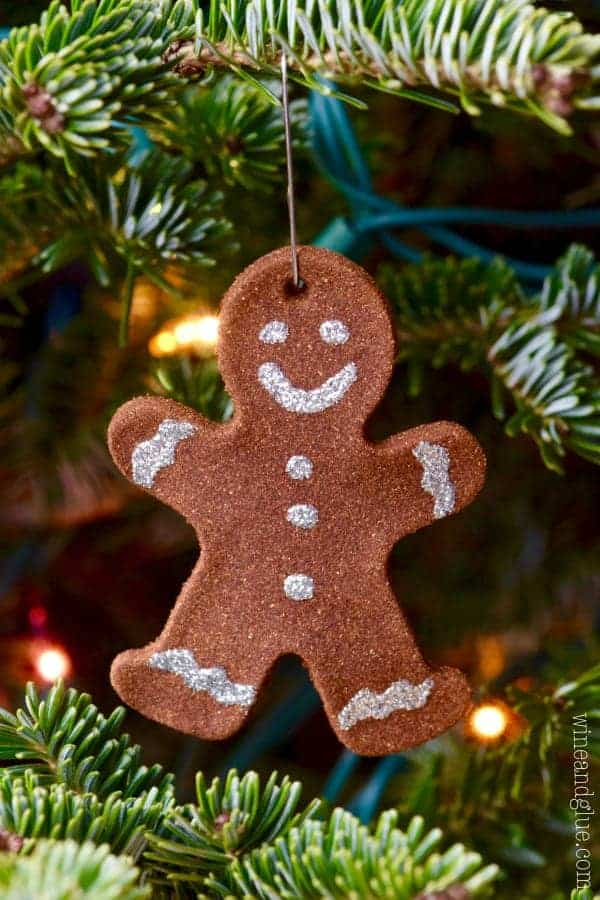 Gingerbread Ornaments by Wine and Glue | The best ever kids Christmas Crafts. So many fun ideas to get the kids involved in the holiday fun!