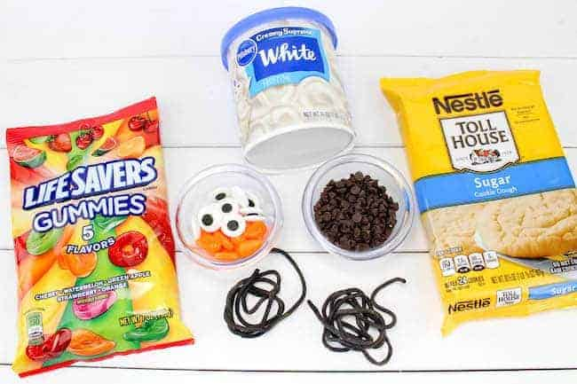 Ingredients for Snowman Sugar Cookie copy