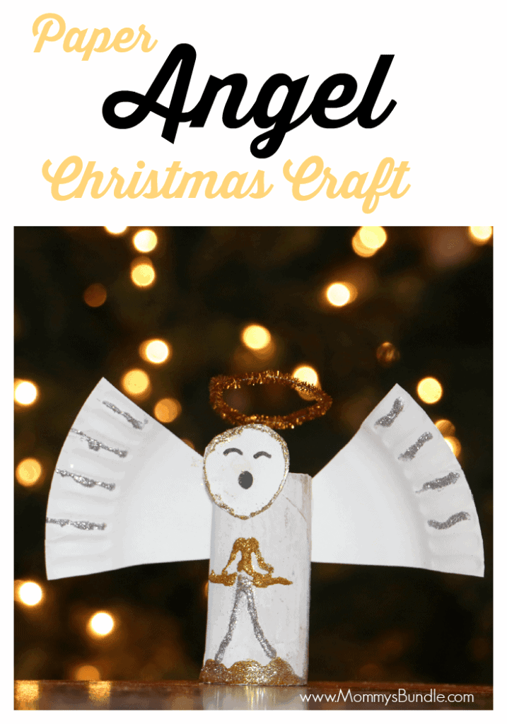 Paper Angel Christmas Craft by Mommys Bundle | The best ever kids Christmas Craft Ideas. So many fun ideas to get the kids involved in the holiday fun!
