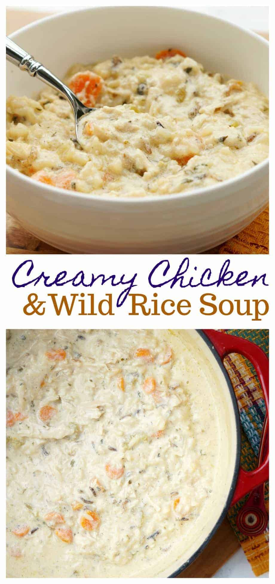 This Quick and Easy Chicken and Wild Rice Soup is perfect for dreary winter days. Creamy and comforting and made it under 30 minutes, your family will love this easy soup recipe!