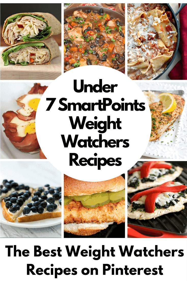 Weight Watchers Recipes under 7 SmartPoints that Never Tasted So Good! Breakfast, lunch, dinner, dessert and snack recipes that will keep you on your diet plan!