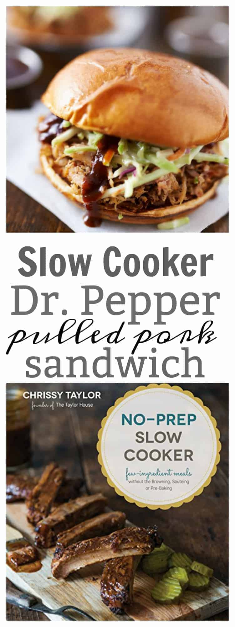 These Slow Cooker Dr. Pepper Pulled Pork Sandwich are amazing, and would be great for a party! There is no pre-cooking and the ingredients are simple but pack a flavorful punch.