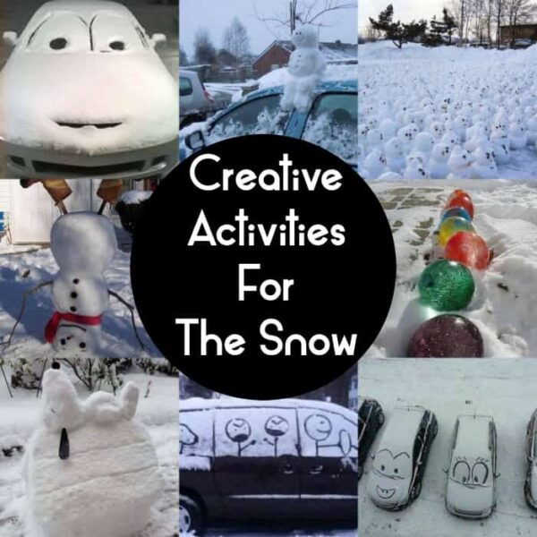 Creative activities for the snow