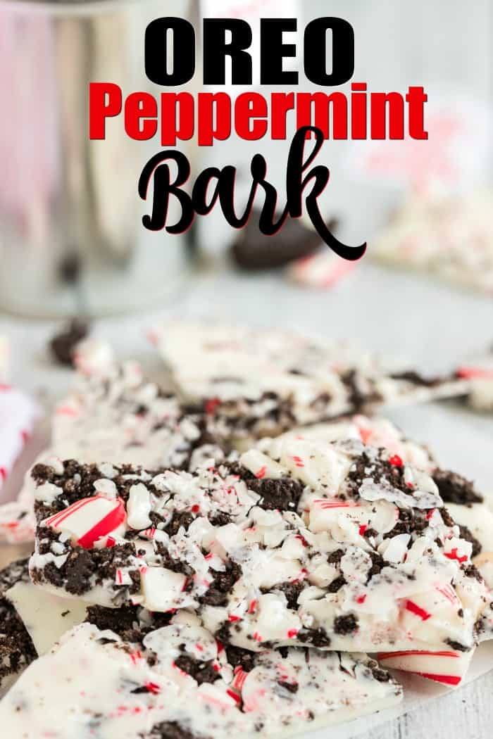 White Chocolate Oreo Peppermint Bark Only 3 Ingredients No Baking