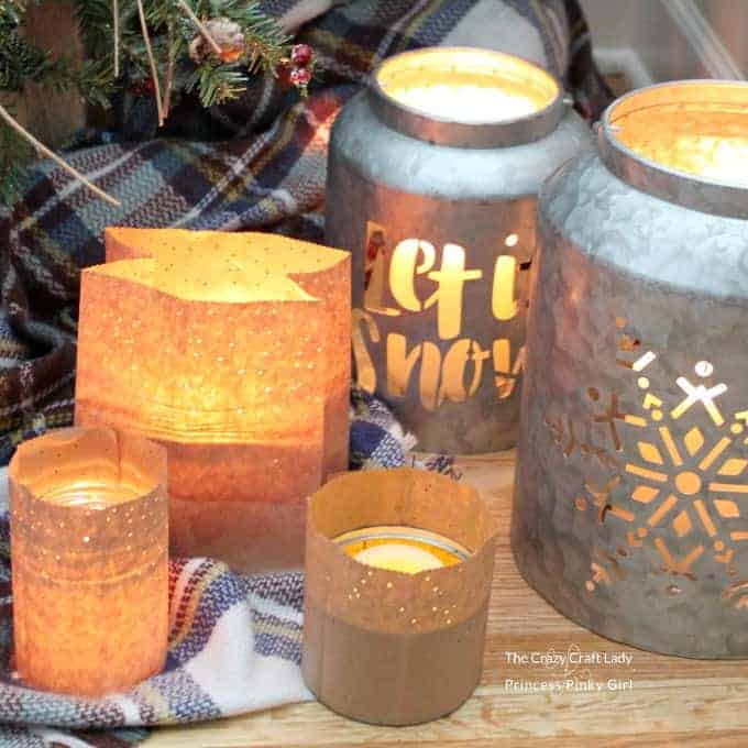 Learn how to make a simple winter luminary craft from brown paper bags, perfect for winter nights. This easy paper craft will cozy up any space at night.