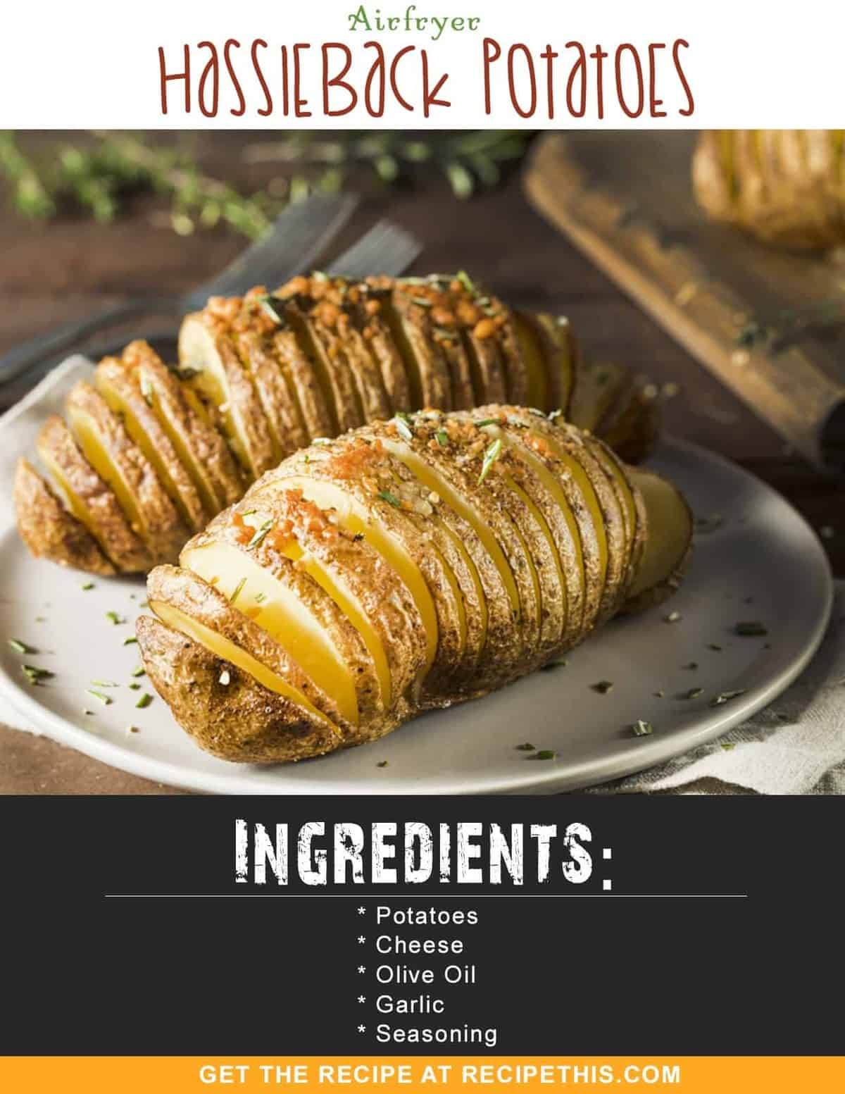 Air Fryer Hasselback Potatoes by Recipe This