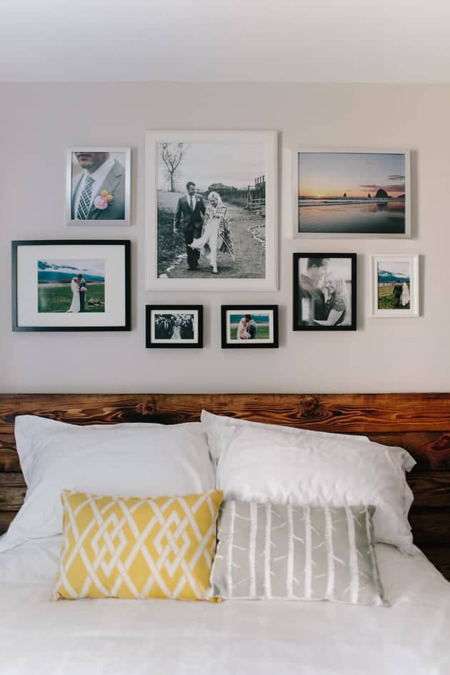 Bedroom Photo Galler Wall by Jame Delaine | Stunning gallery wall ideas!