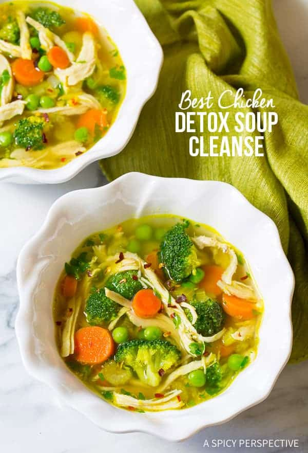 Best Chicken Detox Soup Cleanse by A Spicy Perspecive | Detox Soup Recipes and Information for Beginners