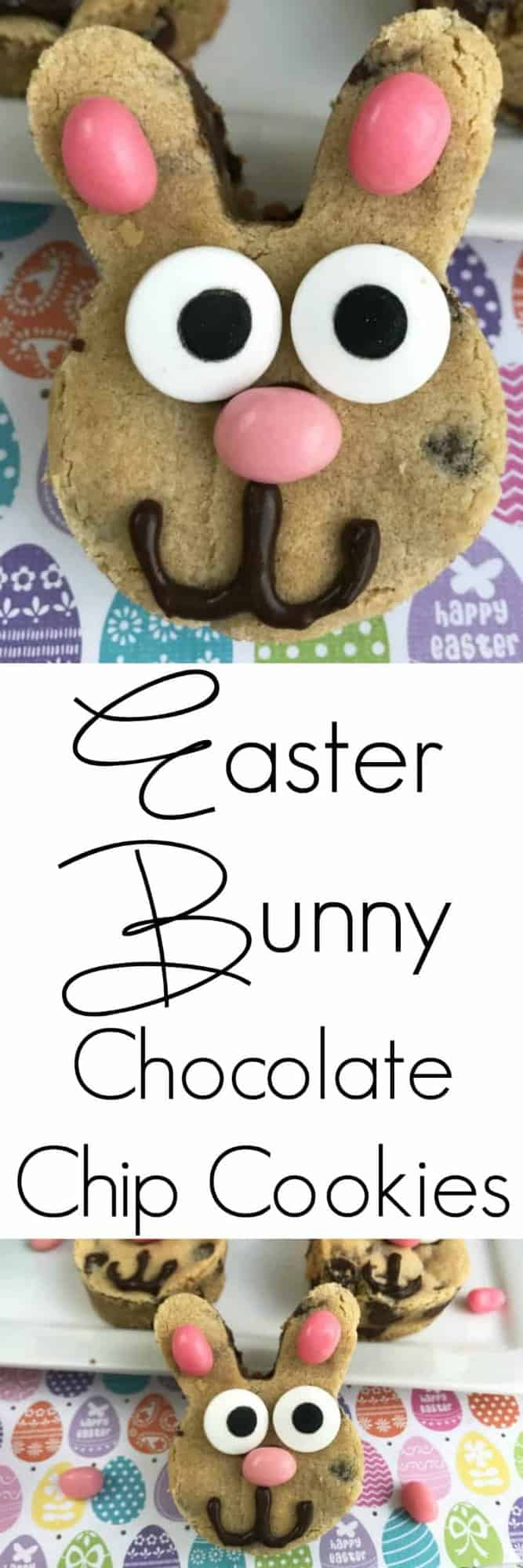 Chocolate Chip Easter Bunny Cookies! Easter bunnies are a must have in every Easter basket and what is a better treat than an Easter cookie