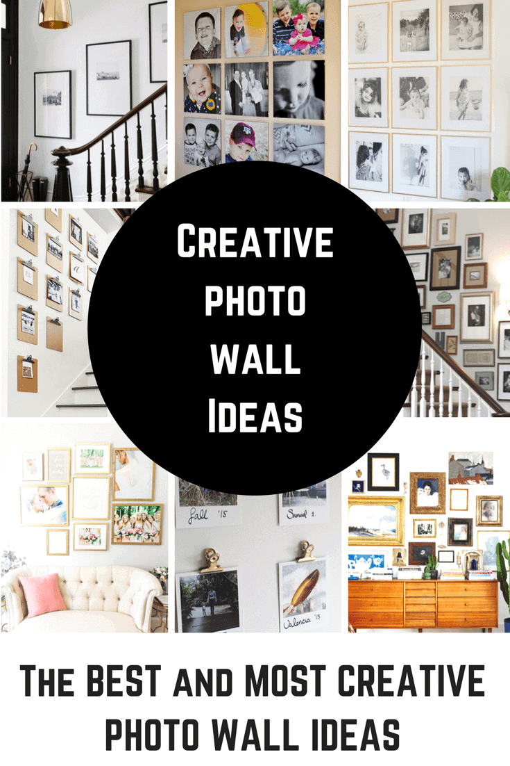 How to create a great photo wall display and photo gallery wall. Photo walls look complicated, but they don't have to be with these useful tips and templates!